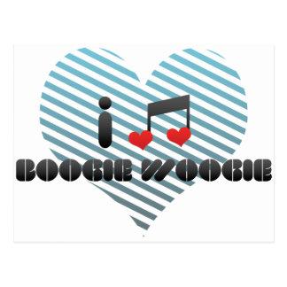 Boogie Woogie fan Postcard
