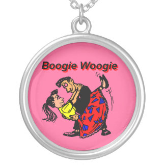 Boogie Woogie Round Pendant Necklace