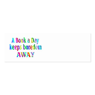 Book a Day BOOKMARK Business Card Templates