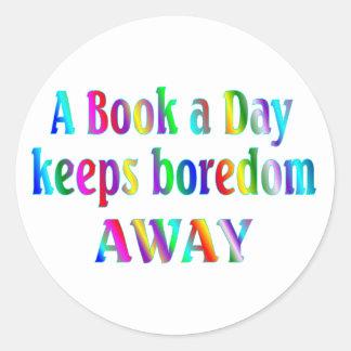 Book a Day Round Sticker