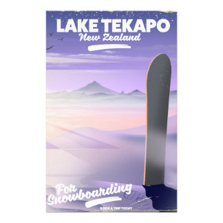 book a trip today lake Tekapo New Zealand Stationery