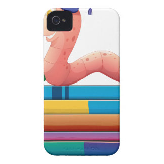 Book and worm iPhone 4 covers