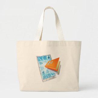 Book app phone concept bags