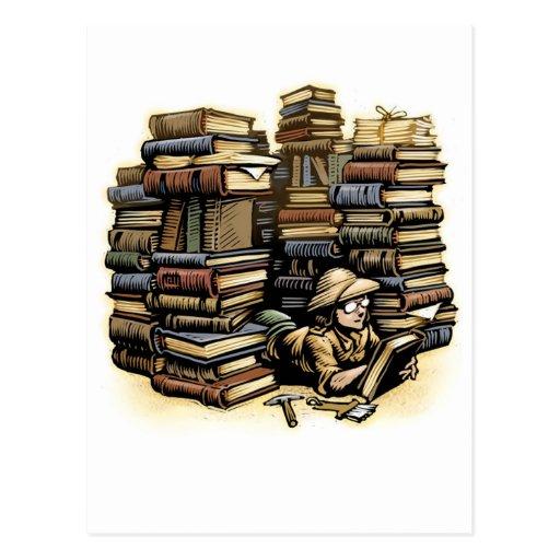 Book Archaeologist Postcard