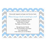 Book Baby Shower insert card boy blue grey chevron Pack Of Chubby Business Cards