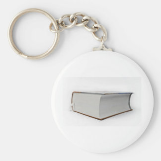 book basic round button key ring