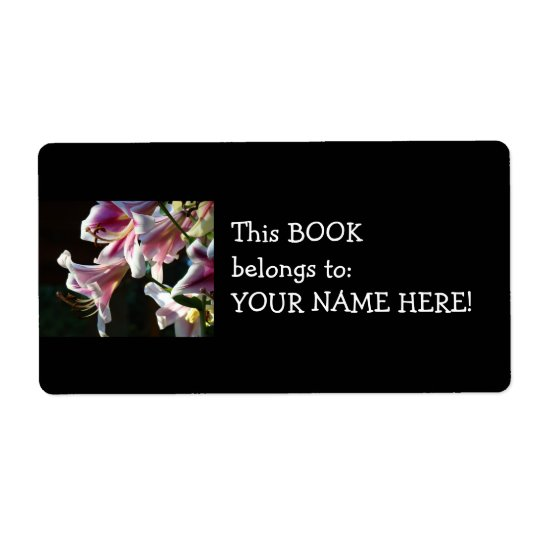 Book Belongs to Your Name stickers Lily Book label