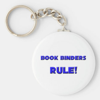 Book Binders Rule! Basic Round Button Key Ring