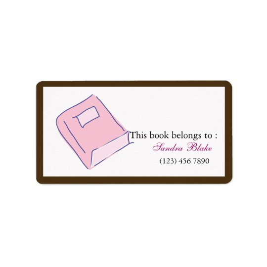 Book - Bookplates Label