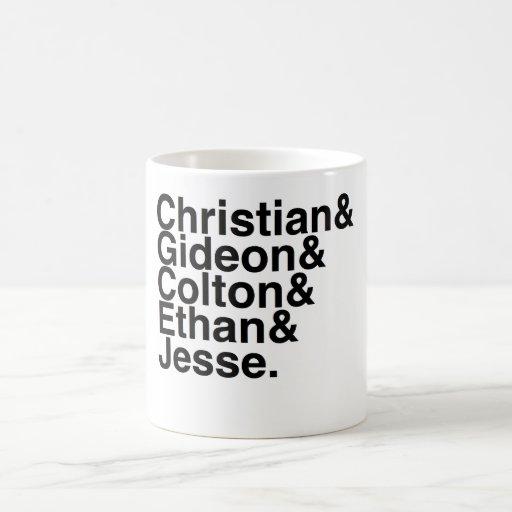 Book Boyfriend- Christian, Gideon, Colton, Ethan, Mug