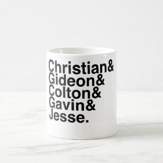 Book Boyfriend- Christian Gideon, Colton, Gavin... Basic White Mug