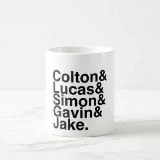 Book Boyfriend- Colton, Lucas, Simon, Gavin, Jake Basic White Mug