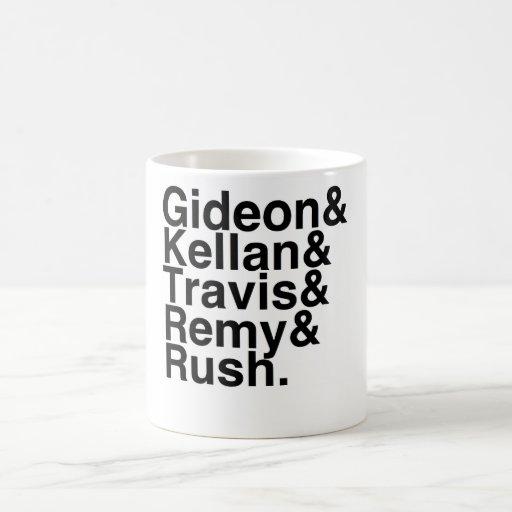 Book Boyfriend- Gideon, Kellan, Travis, Remy, Rush Coffee Mugs