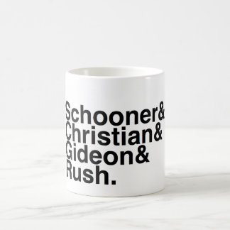 Book Boyfriend- Schooner, Christian, Gideon, Rush Basic White Mug