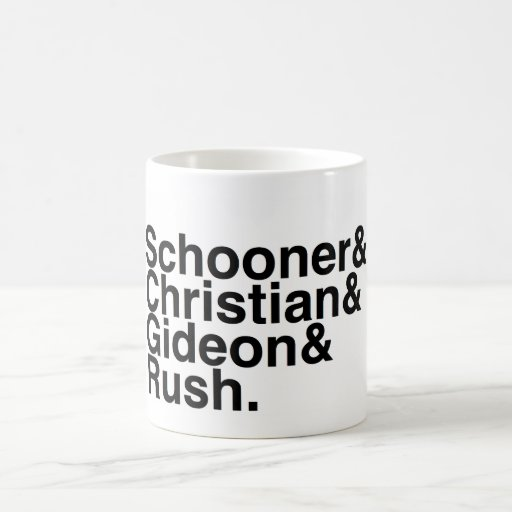 Book Boyfriend- Schooner, Christian, Gideon, Rush Mug