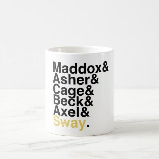 Book Boyfriends — Maddox Asher Cage Beck Axel Sway Coffee Mug