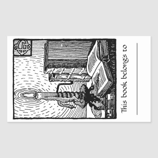 Book & Candle Bookplate Sticker