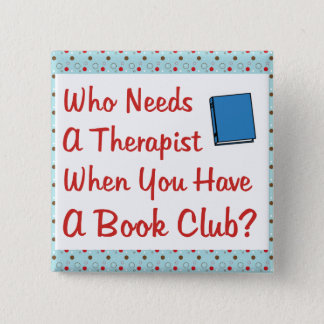book club 15 cm square badge