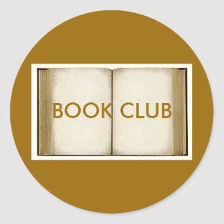 Book Club Classic Round Sticker