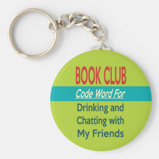 Book Club - Code Word Basic Round Button Key Ring