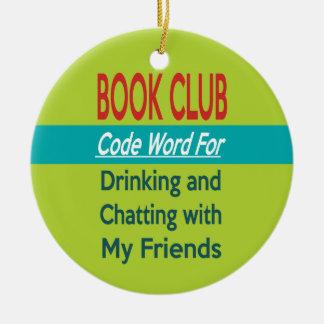 Book Club - Code Word Round Ceramic Decoration
