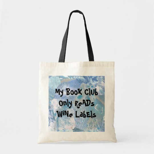 book club for wine lovers tote