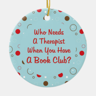 book club fun christmas ornament