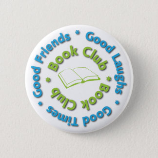 book club good friends 6 cm round badge