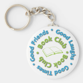 book club good friends basic round button key ring