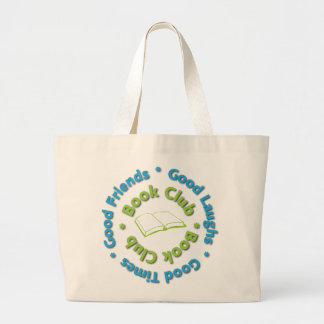 book club good friends large tote bag