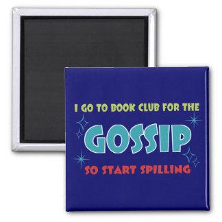 book club gossip square magnet