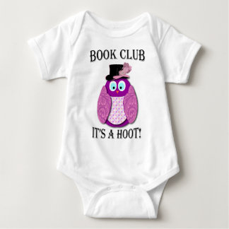 Book Club - It's A Hoot - Pink Design Baby Bodysuit