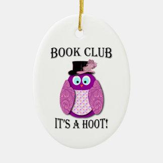 Book Club - It's A Hoot - Pink Design Christmas Ornament