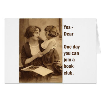 book club mother and daughter greeting card