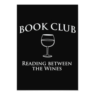 Book Club Reading Between the Wines 13 Cm X 18 Cm Invitation Card