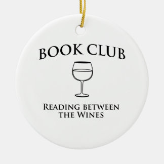 Book Club Reading Between the Wines Christmas Ornament