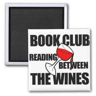 BOOK CLUB reading between the wines Square Magnet
