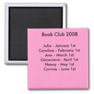 book club reminder. magnet