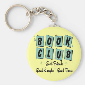 Book Club Retro - Good Friends, Times and Laughs Key Ring