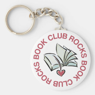 Book Club Rocks Key Ring