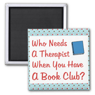 book club square magnet