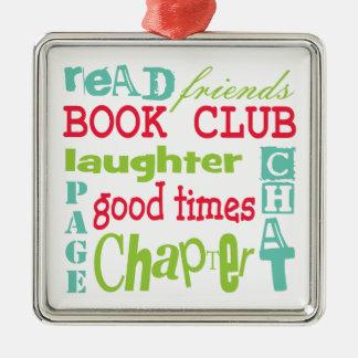 Book Club Subway Design by Artinspired Christmas Ornament