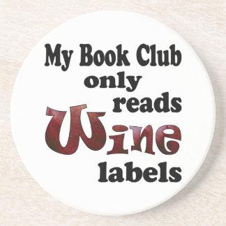 Book Club Wine Labels Beverage Coasters