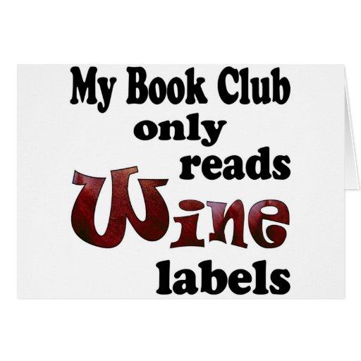 Book Club Wine Labels Card