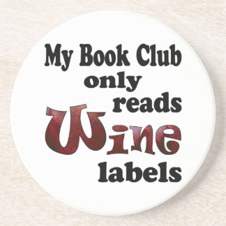 Book Club Wine Labels Coaster
