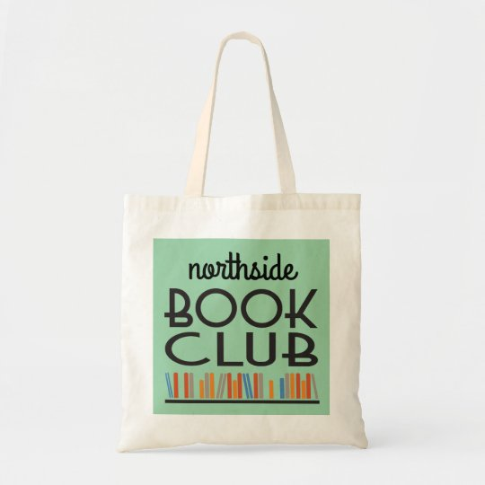 Book Club with custom name deco style Tote