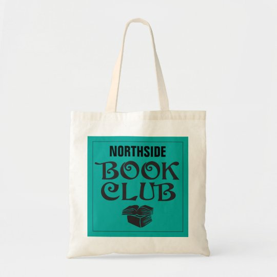 Book Club with custom name in teal Tote