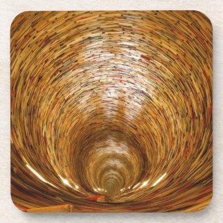 Book. Beverage Coaster