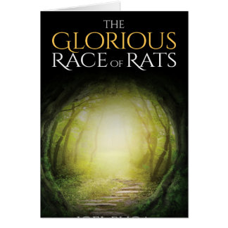 "Book cover of ""The Glorious Race of Rats"" Greeting Card"