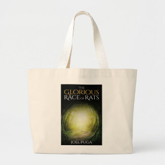 """Book cover of """"The Glorious Race of Rats"""" Large Tote Bag"""